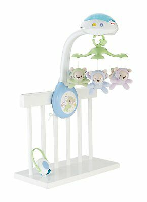 Mattel Fisher-Price CDN41 3-in-1 Traumbärchen Mobile Sternenlicht Musik Natur
