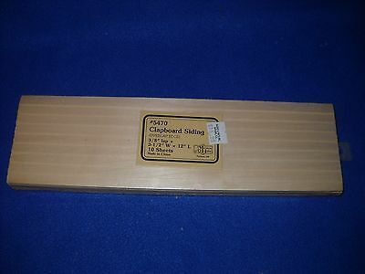 Clapboard siding, 10 sheets, by Miniature House - 1:12 scale, NIB, #5470