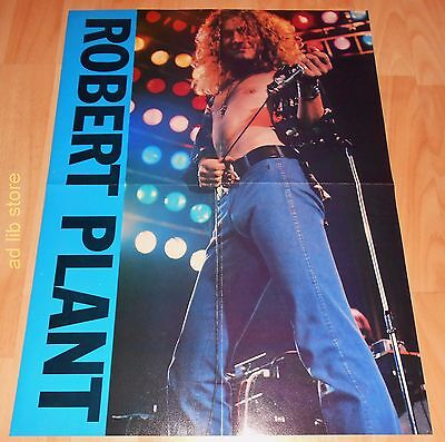 """LED ZEPPELIN ROBERT PLANT ON STAGE Fold-Out 21.5"""" x 16"""" POSTER"""