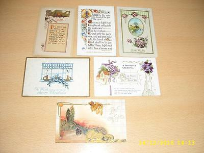 Art Deco   - Collection Of Vintage Greeting  Postcards