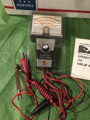 Vintage Hawk 743 Tune-Up Analyzer Dwell Tach Amp Volt Point Tester With Manual