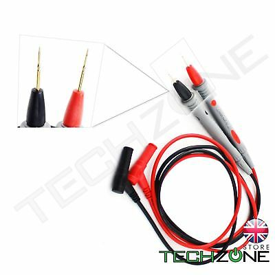 Multimeter Voltmeter Cable Thin Needle Tester Universal Probe Test Lead cord UK