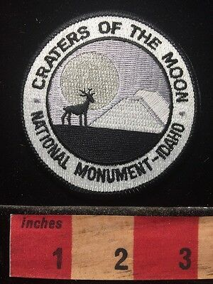Vtg IDAHO Patch ~ Craters Of The Moon National Monument 69V1