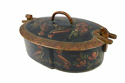 Vintage Painted Swedish / Norwegian Svepask / Tine Box. Scandinavian.