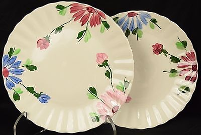 Lot of 2 Blue Ridge Southern Pottery Mardi Gras Colonial Dinner Plates