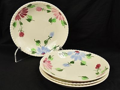 Lot of 4 Blue Ridge Southern Pottery Mardi Gras Candlewick Soup Cereal Bowls