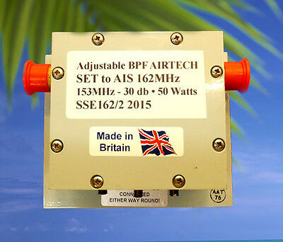 "AIRTECH (UK) Adjustable BPF (RF2004) ""SO239"" • AIS Filter • 153MHz = -30 db"
