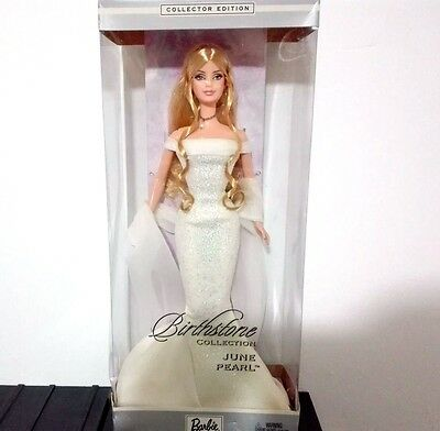 BARBIE BIRTHSTONE JUNE PEARL NRFB - model Muse doll collection collezione Mattel