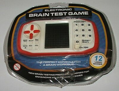"""Electronic hand held """"brain test"""" game - 12 logic games"""