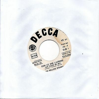 The Rolling Stones-Con Le Mie Lacrime (As Tears Go By) 45 giri promo Juke-box