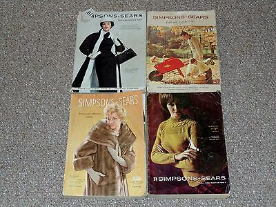 1950s & 1960s Simpsons Sears Lot of 4 Canadian Fall & Winter Catalogs Catalogues