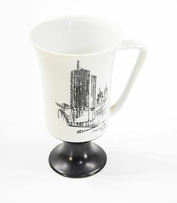 Marina City Chicago Pedestal Coffee Mug from Fine Seyei China Made in Japan Deco