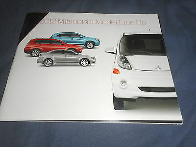 2012 Mitsubishi Full Line USA Market launch Color Brochure Prospekt