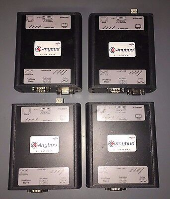 Lot of 4 HMS Anybus Gateway ABX-EIPS-PDPS
