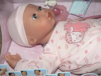 NEW IN BOX! Zapf Creation BABY ANNABELL Doll Babbles Giggles Drinks Yawns 2006