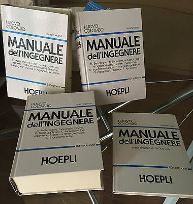 Nuovo Colombo Manuale dell'Ingegnere - Giuseppe Colombo - Hoepli - Occasione!