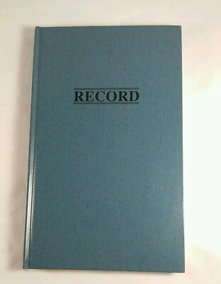 """Hardcover Record Book 11-3/4"""" x 7-1/4"""" Lined 300 pages Ledger Wilson Jones"""