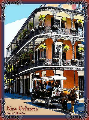 French Quarter New Orleans United States America Travel Advertisement Poster 2