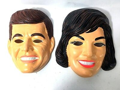 Vintage | 1960'S Jfk John F Kennedy And Jackie Onassis Halloween Masks