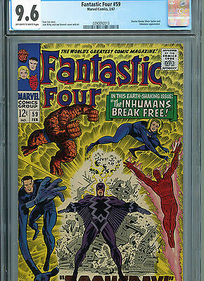 Fantastic Four #59 (Marvel 1967) CGC Certified 9.6 Off- White- White Pages