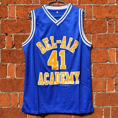 Will Smith #41 The Fresh Prince of Bel-Air Academy Blue Basketball Jersey S-3XL