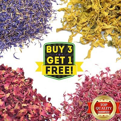 Various Dried Flowers- Confetti Potpourri, Crafts, Bath Bomb, Soap Candle Making