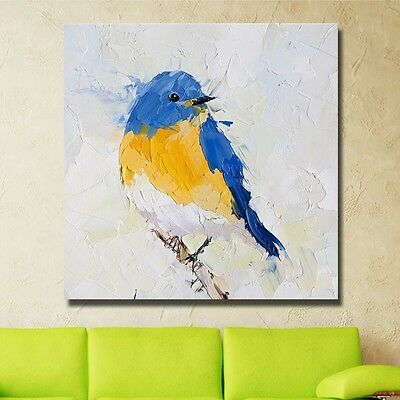 Hand-painted Beautiful Bird modern abstract animal oil painting wall art decor