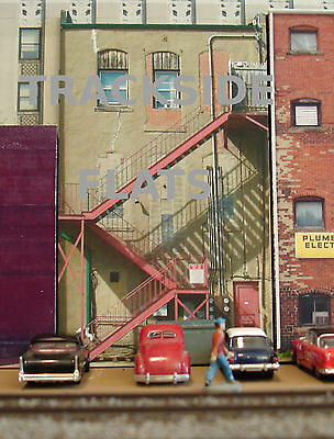 #307 O scale background building flat  BACKSIDE #8   *FREE SHIPPING*