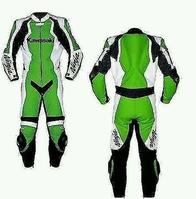 Kawasaki Green Motorbike Suit- Ce Approved Full Protection