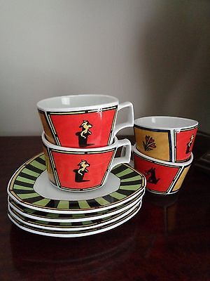 2 x ROSENTHAL STUDIO LINE FLASH LOVE STORY CUPS & SAUCERS - NEW