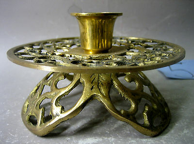 Vintage handmade brass candle stick