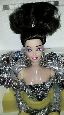 1993 Mattel Porcelain Barbie Silver Starlight - Mib!  Free Shipping!