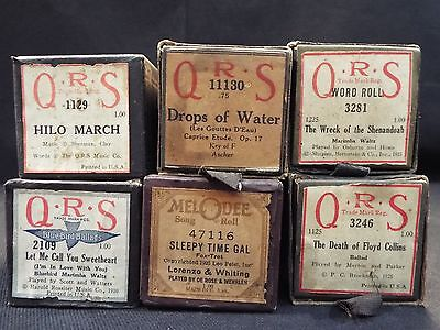 (6) QRS Piano Rolls Let me Call you Sweetheart / Hilo March & 4 More Titles #11