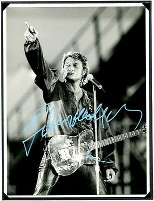 Autographe Johnny Hallyday Photo Dedicacee -Signed Signiert Autogramm