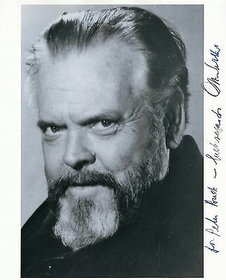 ORSON WELLES (1915-1985) HAND-SIGNED PHOTO Citizen Kane