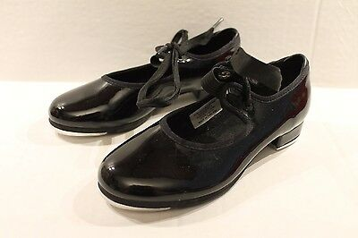 Bloch Girls' Black Patent Dance Tap Shoes Girl Size 12.5 M ( NEW WITH NO BOX )