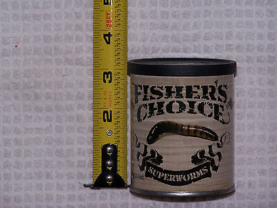 FISHER'S CHOICE CANNED BAIT - SUPER WORMS - 80+ per CAN