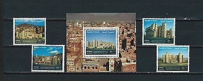 Middle East Yemen mnh stamp set and sheet - buildings