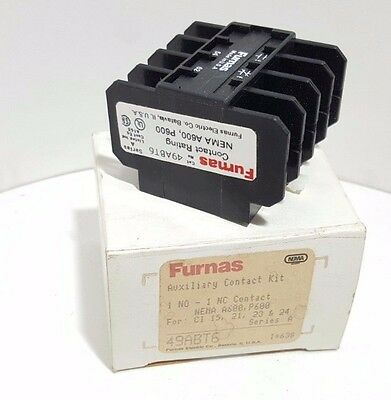 **NEW** FURNAS 49ABT6 ,Auxiliary Contact
