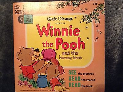 Disneyland Record and Book Winnie The Pooh And The Honey Tree #313