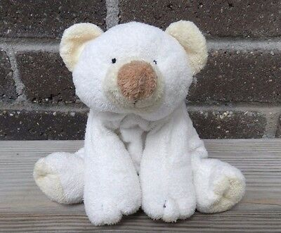 "TY Pluffies CLOUD 10"" Stuffed Animal Toy Ivory Polar Bear Lovey 2002"