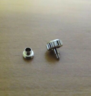7 MM WRIST WATCH STAINLESS STEEL THREAD CROWN & TUBE fits ROLEX & MOST AUTOMATIC