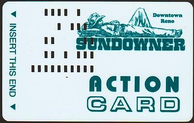SUNDOWNER CASINO*COWBOY ACTION CARD Vintage BLANK~ slot/players card*FREE SHIP