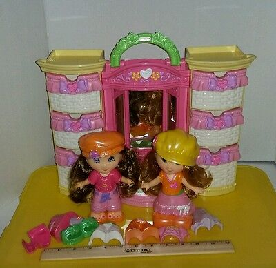 Fisher Price Snap N Style Doll Lot w Closet + Accessories + Clothes
