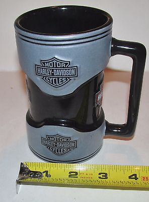Official Licensed Harley Davidson Black Small Beer Stein,,5 x 3 in BICE