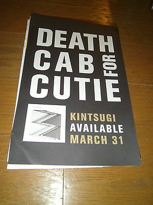 """DEATH CAB FOR CUTIE promo poster for KINTSUGI 11""""x17"""" Very Rare"""