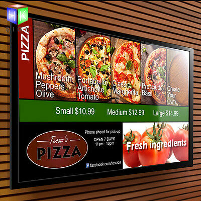 A2 Led aluminum snap frame advertising menu board with clip picture frame signs