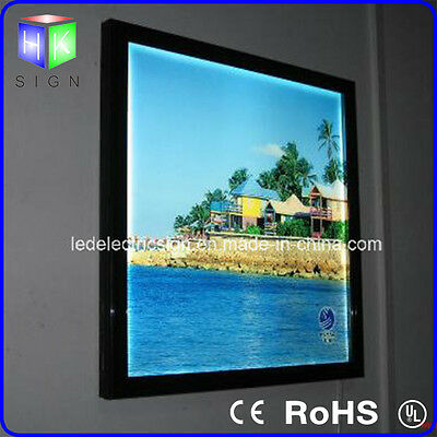 Wall Mounted Acrylic LED Aluminum Snap Frame Poster Board