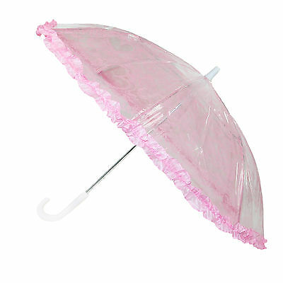 New CTM Kids' Lace Heart Stick Umbrella