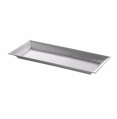 Brushed Silver Rectangle Tray, Wedding Candle Tray, Home Decor, Table Decor